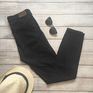 Madewell Black High Riser Skinny Jeans